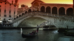 Romantic couple in Venice Italy - stock footage