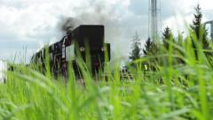 Beautiful shot of a change in focus on a steam locomotive Stock Footage