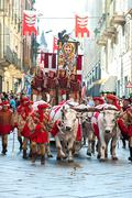 Parade during the Palio - stock photo