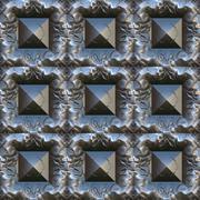 Metal pattern generated texture Stock Illustration