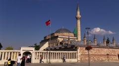 Mevlana Museum in Konya, Turkey Stock Footage