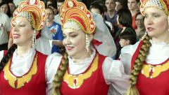 Traditional Russian Dancing at Event Stock Footage