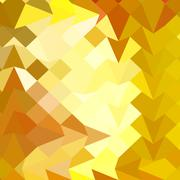 Amber Yellow Abstract Low Polygon Background - stock illustration