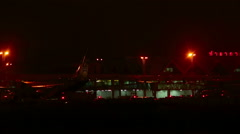 Phuket Int. Airport at night Stock Footage