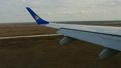 Air Astana Embraer 190 landing Stock Footage