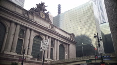 Timelapse On People Passing in gront of Grand Central Terminal Stock Footage