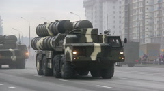 S300, air defense system, radar, invasion of the city, military army, war, smoke Stock Footage