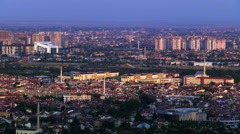 Panoramic view of populated area - stock footage