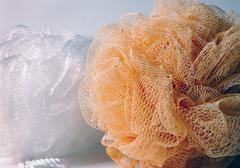 Shower Scrub Sponges Stock Photos