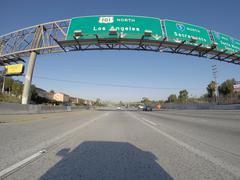 Stock Photo of Los Angeles 101 North Freeway Sign
