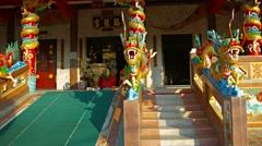 entrance at Tha Rua Shrine, a Chinese, Taoist shrine in Phuket Town, Thailand. - stock footage