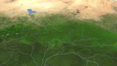 Central African Republic on maps - Do It Yourself as you like. Neighbourhood Stock Footage