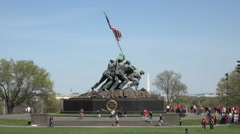Washington DC United States Marine Corps War Memorial fast 4K 030 Stock Footage