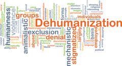 Dehumanization background concept Stock Illustration
