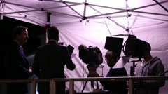Breaking News - Television Reporters At Live News Event Arkistovideo