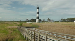 4K Bodie Island Lighthouse 2 Stock Footage