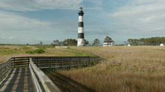 4K Bodie Island Lighthouse 3 Stock Footage