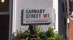 Carnaby Street signage Stock Footage