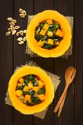 Pumpkin and Chard Salad - stock photo