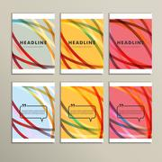 Set of color line banners for abstract design - stock illustration