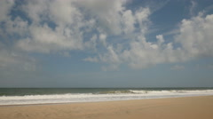 4K Waves Break On A Beach 1 Stock Footage
