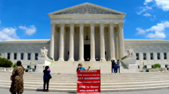 Protest against gays at Supreme Court Stock Footage
