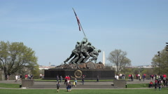 Washington DC United States Marine Corps War Memorial Iwo Jima 4K 030 - stock footage