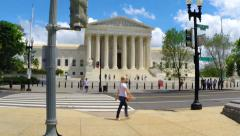 Stock Video Footage of Busy day at the U.S. Supreme Court