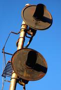 Rail Crossing Signals - stock photo