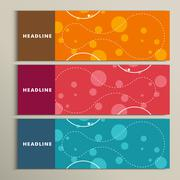 Set of color round for abstract design - stock illustration