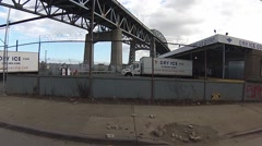 Kosciuszko Bridge - Maspeth / Long Island City / Queens New York Stock Footage