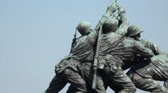Washington DC United States Marine Corps War Memorial zoom 4K 032 - stock footage