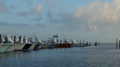 4K Oregon Inlet Fishing Center and Boats 1 Stock Footage