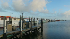 4K Oregon Inlet Fishing Center and Boats 2 Stock Footage