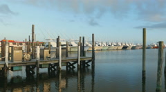 4K Oregon Inlet Fishing Center and Boats 6 Stock Footage