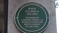 John Stephen sign Stock Footage