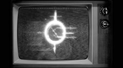 Vj Loop Old TV Television Plays Retro Vintage interference Stock Footage