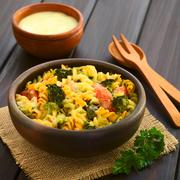 Baked Pasta and Vegetable Casserole - stock photo