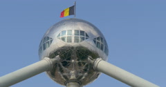 The Atomium is a building in Brussels originally constructed for Expo 58 Stock Footage