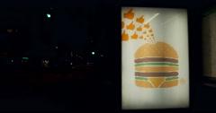 McDonalds advertising Stock Footage