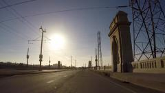 1st Street Bridge - Los Angeles Stock Footage