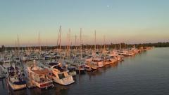 Crandon Marina At Sunset Stock Footage