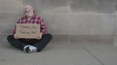Homeless Vet 4k Released Stock Footage