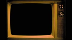 Vj Loop Old TV Television Plays Retro Vintage interference Stock Footage