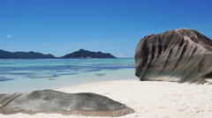 Stock Video Footage of anse source d'argent beach on seychelles
