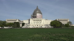 Washington DC US Capitol Building from front lawn fast 4K 051 Stock Footage
