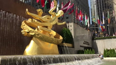 Waterfall At The Rockefeller Center with Audio Stock Footage