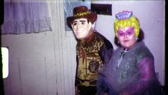 Cowboy Fairy Children in Halloween Costumes 1960s Vintage Film Home Movie 8284 Stock Footage
