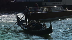 Gondola on Canal Grande Stock Footage