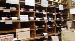 Wine Store 02 Stock Footage